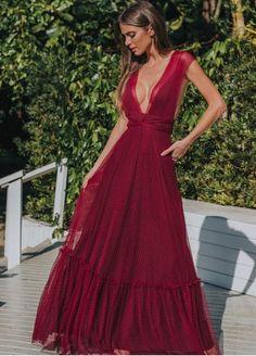 Evening Dresses For Weddings, Red Wedding Dresses, Gala Dresses, Chiffon Dresses, Beautiful Dresses, Nice Dresses, Formal Dresses, Long Dresses, Chic Dress