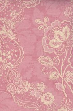 Lace Floral Coral Damask Wallpaper