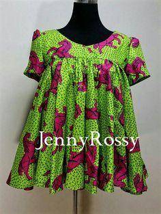 Jennyrossy African print Bandeau Top Ankara circle by JENNYROSSY
