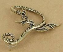 Bronze Gothic Punk Game Of Thrones Dragon Animal Ear Cuff Stud Earring