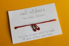 Ruby Slippers Charm Bracelet - All your wishes come true Friendship Gifts, Friendship Bracelets, Ruby Slippers, Wish Come True, Good Luck, Travel Gifts, Wizard Of Oz, Party Favors, My Etsy Shop