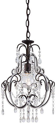 Best Bathroom Light Fixtures | Minka Lavery 3123489 Mini Crystal Chandelier Lighting 1 Light 60 Watts Bronze *** Details can be found by clicking on the image. Note:It is Affiliate Link to Amazon. #likeall
