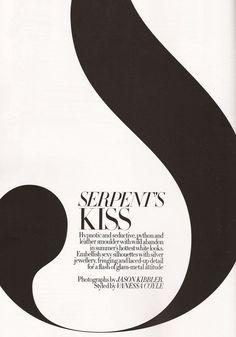 Serpents Kiss, Harper's Bazaar UK, June 2011