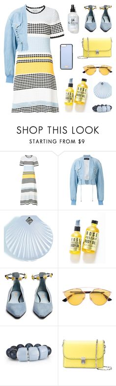 """""""Blue and Yellow"""" by deepwinter ❤ liked on Polyvore featuring Novis, Balmain, Rosehound, Fabrizio Viti, Christian Dior, Valentino and Dolce&Gabbana"""
