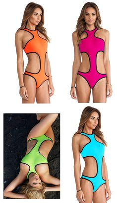 Womens Stunning One Piece Trendy Swimsuit