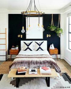 Bedroom ideas, bedroom wall, dream bedroom, home bedroom, bedroom decor Cozy Bedroom, Modern Bedroom, Scandinavian Bedroom, Bedroom Wall, Eclectic Bedrooms, Dream Bedroom, White Bedrooms, Bedroom Curtains, Girl Bedrooms