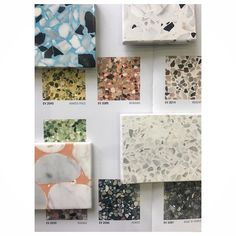 Different terrazzo samples Photo source: Mandarin Stone