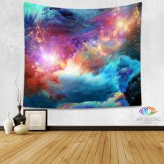 Galaxy Tapestry,Cosmos series nebula with stars wall tapestry, Galaxy tapestry wall hanging, Stars galaxy wall tapestries, Galaxy home decor, Space wall art print, Space wall hanging, Space multicolor nebula galaxy wall art