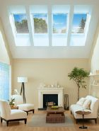 SolarGlass Window & Door offers fixed and ventilating glass skylights and roof windows in many sizes and styles. We install Velux brand skylights because of their exceptional reputation for smart design, ease of installation, and outstanding value. Roof Skylight, Roof Window, Skylight Blinds, Calgary, Residential Skylights, Vancouver, Roof Architecture, Roofing Systems, Loft