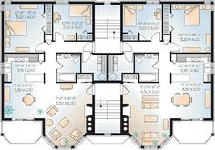 Victorian Multi-Family Plan 64952 Level Three