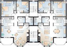 Victorian Multi-Family Plan 64952 Level Three