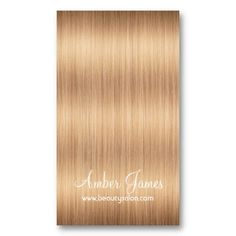 Long Wavy Blonde Hair 4 Stylist Business Cards