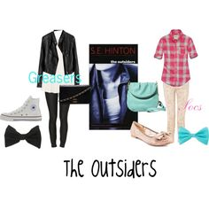 What greasers and socs might have worn Girl Greaser Outfit, Greaser Style, Friend Outfits, Girl Outfits, Cute Outfits, Disney Themed Outfits, Inspired Outfits, Greasers And Socs, The Outsiders Greasers