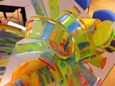 A child friendly project based on the art (glasswork) of Dale Chihuly! Did I mention that I LOVE CHIHULY?!!!