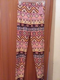 f1453ef1a4e31 LaLa Leggings Aztec Design Print One Size NWT  fashion  clothing  shoes   accessories