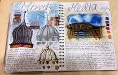 Gcse Art Sketchbook My Surroundings Ideas A Level Art Sketchbook, Sketchbook Layout, Textiles Sketchbook, Sketchbook Inspiration, Sketchbook Ideas, Journal Inspiration, Fall Art Projects, Art Projects For Adults, 3 Piece Canvas Art