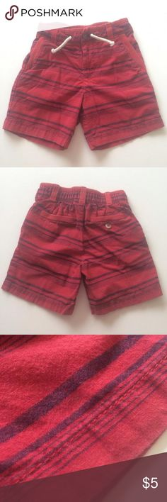 Genuine Kids shorts Cute red and blue striped shorts. Overall good condition. Shorts have a pin head size spot on bottom front (refer to pic/price reflects). Genuine Kids Bottoms Shorts