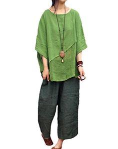 Minibee Women's Dolman Sleeve Linen Patchwork Blouse Green Minibee http://www.amazon.com/dp/B013DD2II2/ref=cm_sw_r_pi_dp_fweWvb1YESJGF
