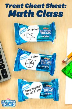 Want your kids to be in great shape for geometry class? Turn their favorite tasty snack into a fun way to memorize formulas with a simple flashcard. It's acute way to remind them how much you care about them and their studies!