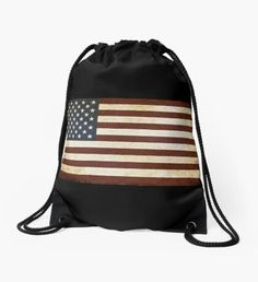 """""""US Flag"""" Drawstring Bag by nocnoc78 