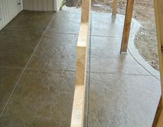 stamped concrete sample
