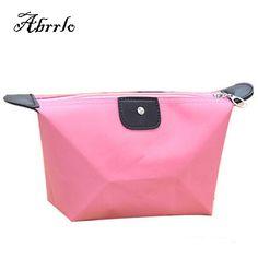 Folding Waterproof Women Cosmetic Bag Makeup Organizer Storage Wash Bags For Women Korean Dumpling Shape Candy Bag WAITMOON