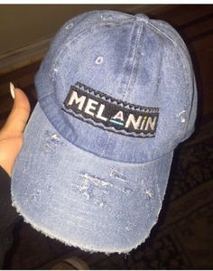 hat melanin denim cap cap