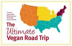 the ultimate vegan road trip in the US (list of vegan restaurants)
