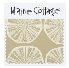 Fabrics by Maine Cottage - Sea Biscuit:  Clay