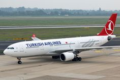 Airbus A330-200 Turkish Airlines Turkish Airlines, Air Travel, Airplane, Aviation, Aircraft, Turkey, Concept, Commercial Aircraft, Civil Aviation