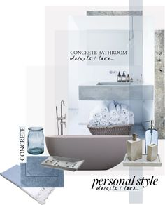 """Concrete Bathroom"" by szaboesz on Polyvore"