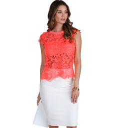 Pink Now You See Me Crochet Top 982c8cc22
