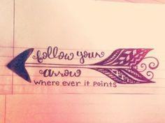 arrow tattoo designs | Follow Your Arrow | Ruth Tattoo Ideas