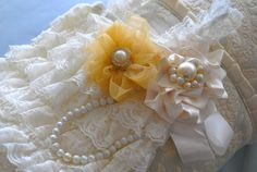 Ivory Petti Lace Baby RomperFlower by PoshPeanutKids on Etsy, $38.99