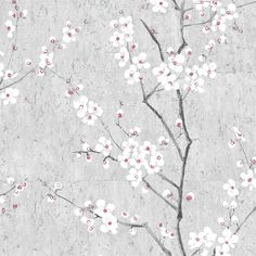 Graham & Brown Kyoto Sakura Pale Blue / Silver / Pink Wallpaper 102958 - The Home Depot Pink Bedroom Design, Pink Bedroom Decor, Pink Bedroom For Girls, Pink Bedrooms, Bedroom Ideas, Bedroom Inspo, Wallpaper Samples, Vinyl Wallpaper, Wallpaper Roll