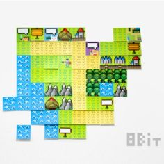 8-bit game map sticky note  #officesupplies #stickynote #8bit