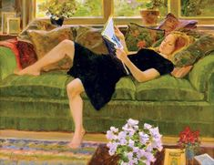 David Hettinger - Little Black Dress Reading Art, Woman Reading, Figure Painting, Painting & Drawing, Mystique, Canadian Art, Figurative Art, American Art, Female Art