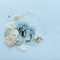 ***scrapbook winter *** sWintery White with Prima...