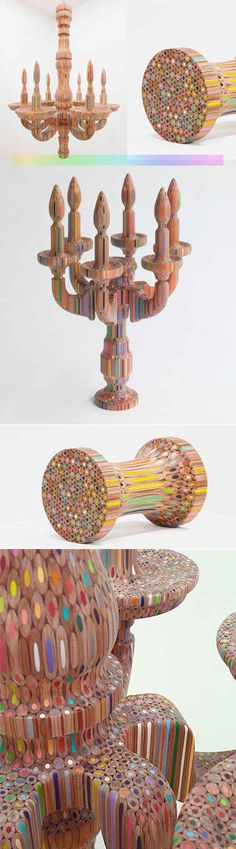 Colored Pencil Sculptures by Takafumi Yagi