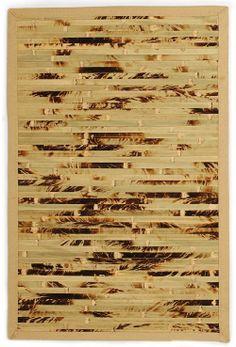 Bamboo Rectangle Green Brown Color Anji Mountain Cobblestone Collection