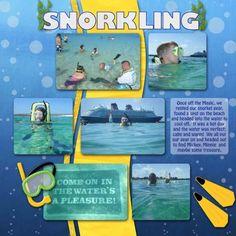 snorkeling scrapbook layout - Google Search