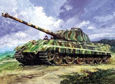 King Tigers in Action by Barry Spicer The Pzkpfw VI Ausf B Tiger II, at just over 70 tons, was a massive and formidable fighting machine. Tiger Ii, Military Photos, Military History, Camouflage, Military Armor, Military Tank, Military Drawings, Tank Armor, Tiger Tank