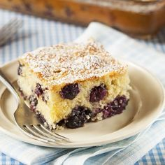 Blueberry, Pineapple and Almond Coffee Cake
