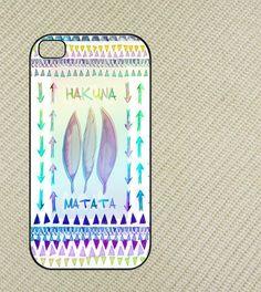 Hakuna Matata Aztec Iphone 4 case, iphone 4s