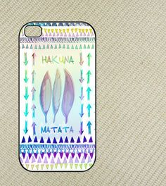 Hakuna Matata Aztec Iphone 4 case, iphone 4s