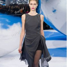 Evening/Party Terylene Purity Cocktail Dresses Elegant Crewneck Knee-Length  http://www.tinydeal.com/it/elegant-crewneck-knee-length-sleeveless-dresses-p-129606.html