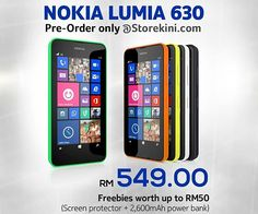 Nokia Lumia 630 Dual SIM now available in Malaysia   Nokia (/ Microsoft) is the latest Windows Phone 8.1 handset, the Lumia 630, is now available for purchase in Malaysia. This is the company's first market release of Windows Phone headset with dual-SIM support and spheres on the screen.