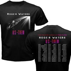 ROGER WATERS TOUR DATES 2016/2017 BLACK T-SHIRT #ShortSleeve