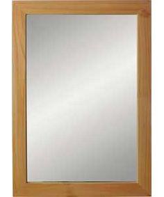 Wooden Wall Mirror - Oak Effect.