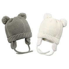 c4132663fe876 Bestjybt Baby Hat Cute Bear Infant Toddler Earflap Fleece Lined Beanie Warm  Caps for Fall Winter